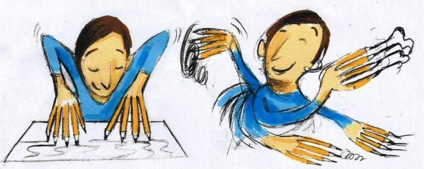 Lapo che disegna